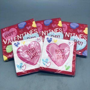 Valentines day napkins set of 5 packs new in packa